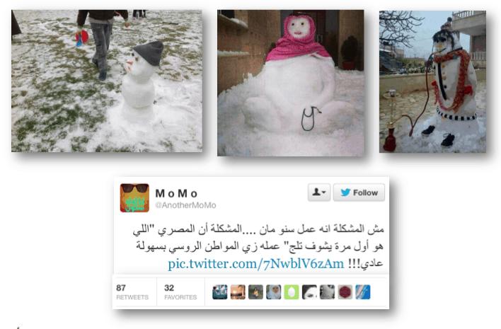 Snowman in Egypt
