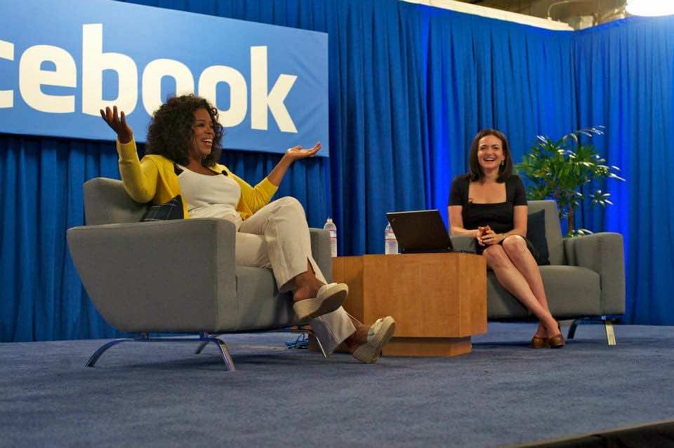 Sheryl with Opera at Facebook warehouse