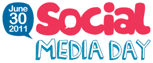 First social media day logo
