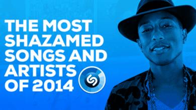 shazam 2014, shazam reports, shazam top charts