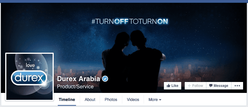 Durex Arabia Facebook, Earth hour