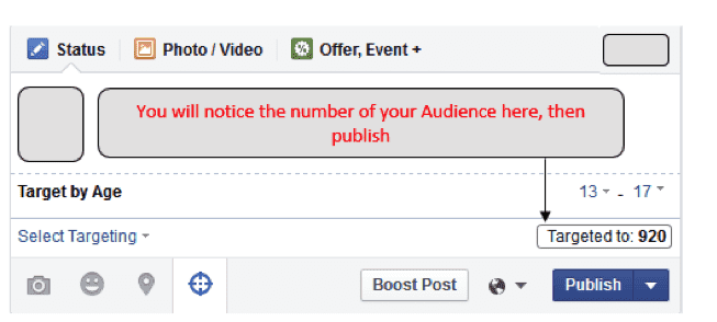 targeted audiences on Facebook organic reach