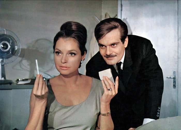 Nadja Tiller with Sharif in The Poppy is also a Flower, 1966, omar sharif