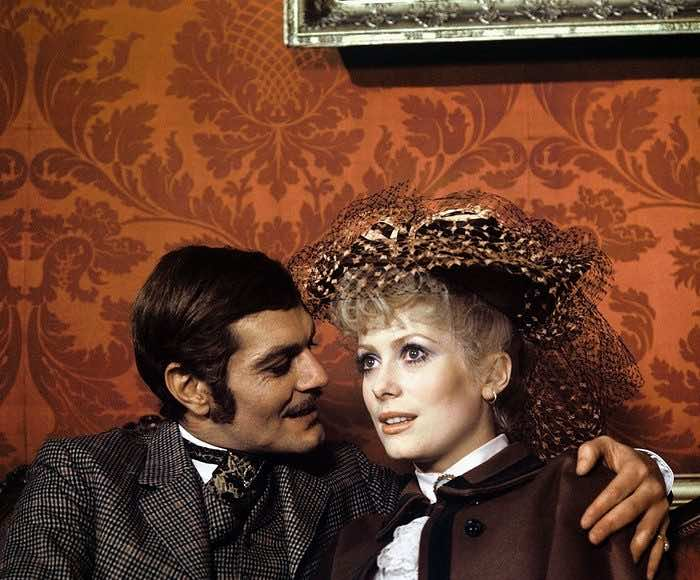 Omar Sharif with Catherine Deneuve in Mayerling, 1968