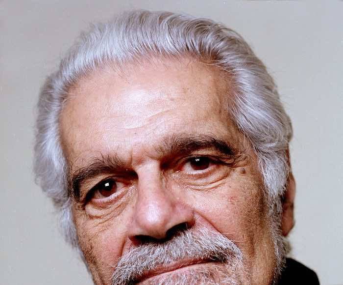 Omar Sharif photographed by Eamonn McCabe for the Guardian, 2004