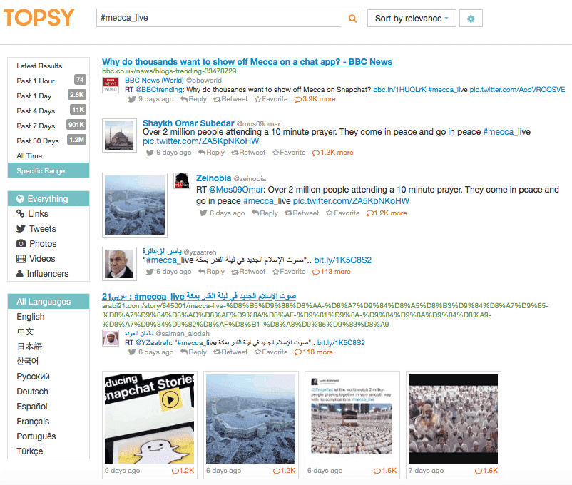 topsy, twitter analytics, twitter stats, hashtag stags