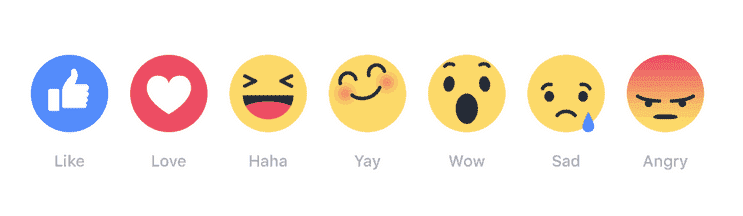 reactions emojis, facebook digital boom, reactions emojis facebook, no dislike button