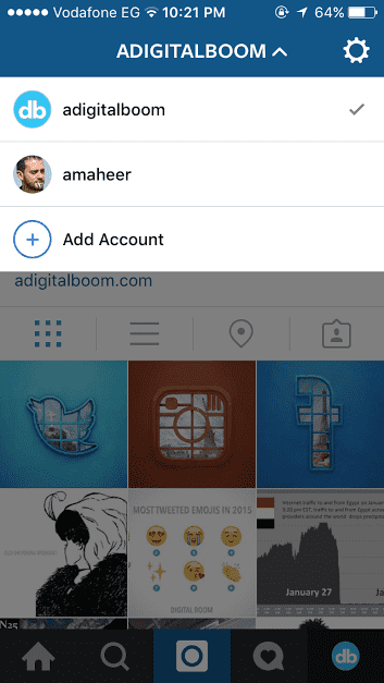 how to add multiple accounts on Instagram
