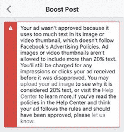 facebook 20% text overlay rule