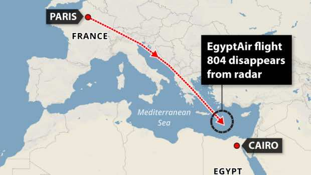 egyptair flight MS804 route