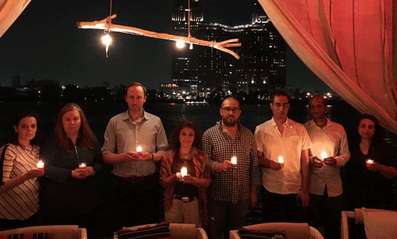 Freedom Candles Glow for Nazanin