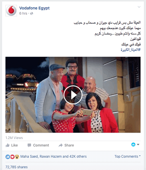 Vodafone Ramadan Ad Hits 1.2M Organic Views in 6 Hours