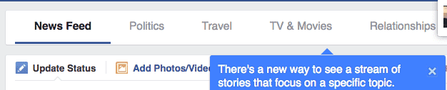 facebook newsfeed by topics