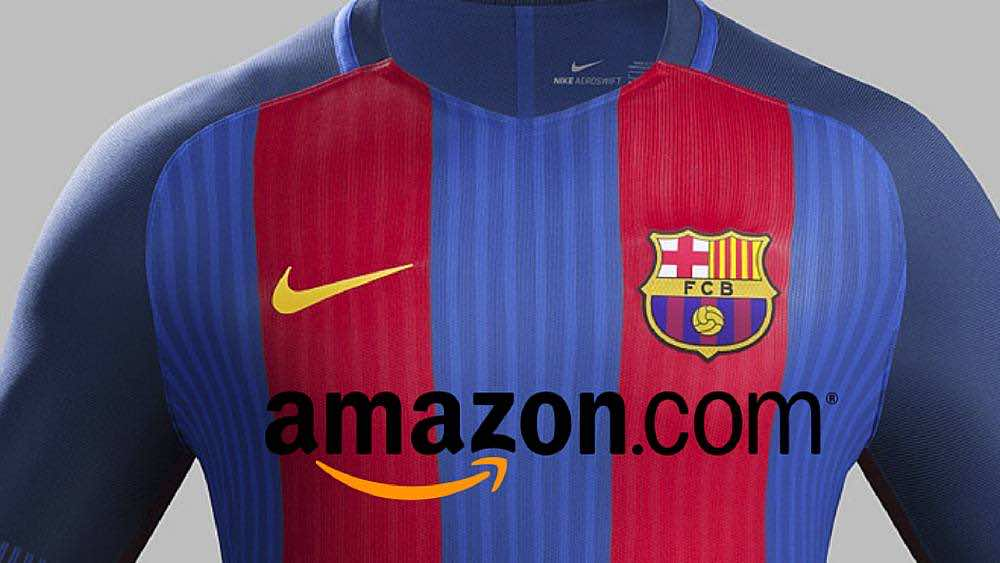 amazon to become barcelona sponsor