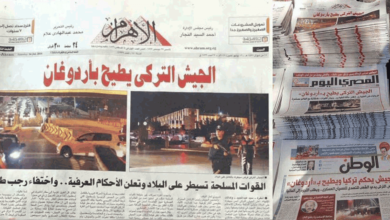 Egypt's Press Propagates for Turkish Coup, Misleads Readers