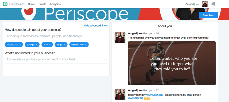 periscope twitter dashboard