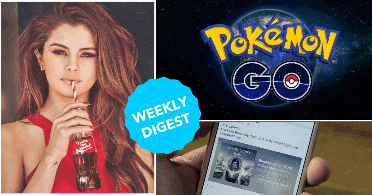 8 things that matter this week, Selena Gomez, Pokemon Go, Google updates, Facebook messenger, facebook music