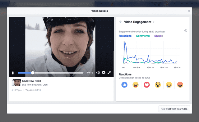 facebook video insights engagement with live videos