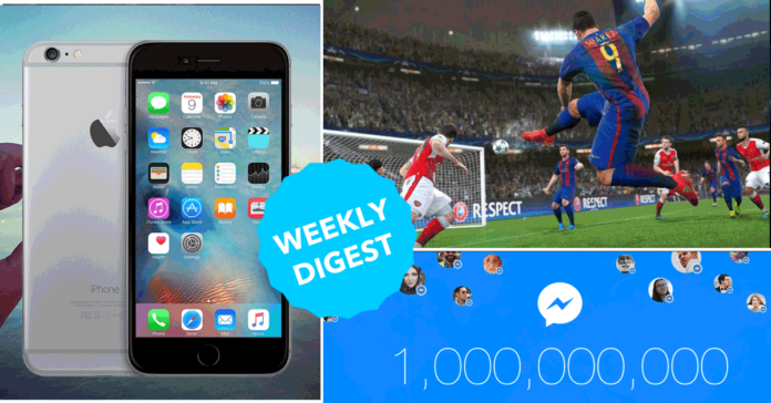 Weekly Digest: iPhone, fb Messenger hit 1B, Twitter wins top live streaming deals, more
