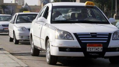 Careem Announces Surprise Integration of 42,000 White Taxis in Egypt, New white taxis are seen on a road in downtown Cairo