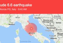 Quake measuring 6.6 magnitude strikes central Italy