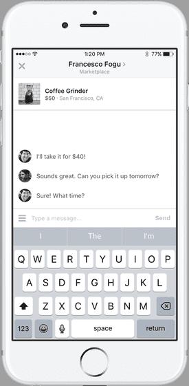 Message Seller on Facebook marketplace
