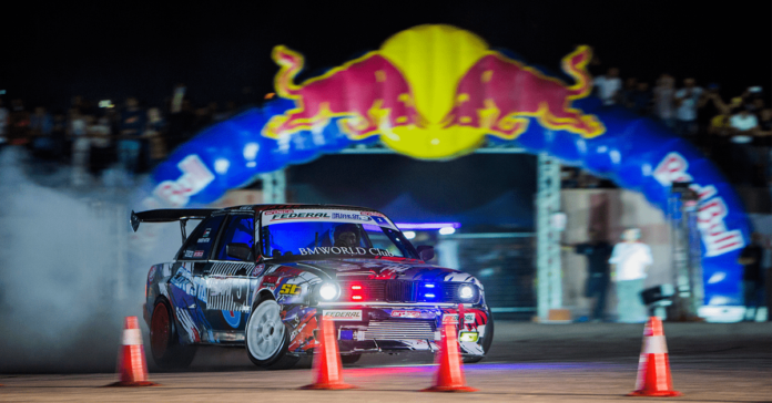 red bull car park drift finals