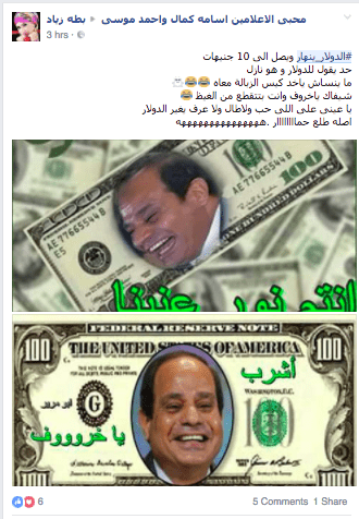 dollar crisis, egypt, cairo, memes, float, devastation, 2016, egyptian pound, sisi