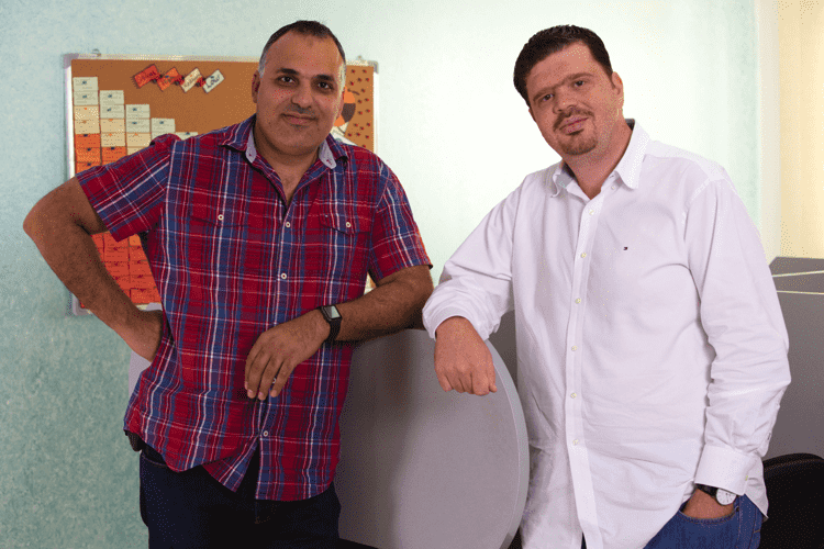 SocialDice CTO Nael Ramadan and CEO Saed Shela
