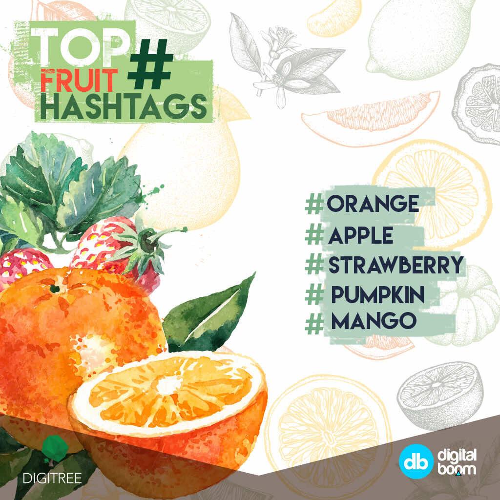 instagram, 2016 data, reports, stats, statistics, digital boom, fruits hashtags, trending