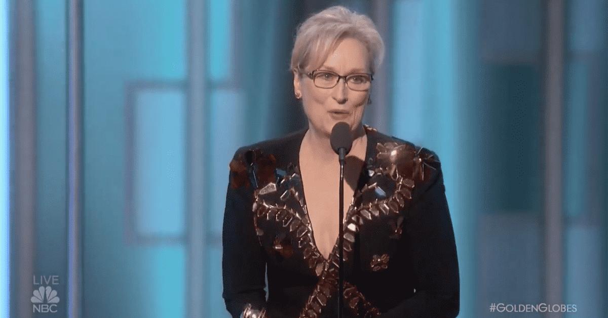 Meryl Streep, Meryl Streep fires up Golden Globes with anti-Trump message