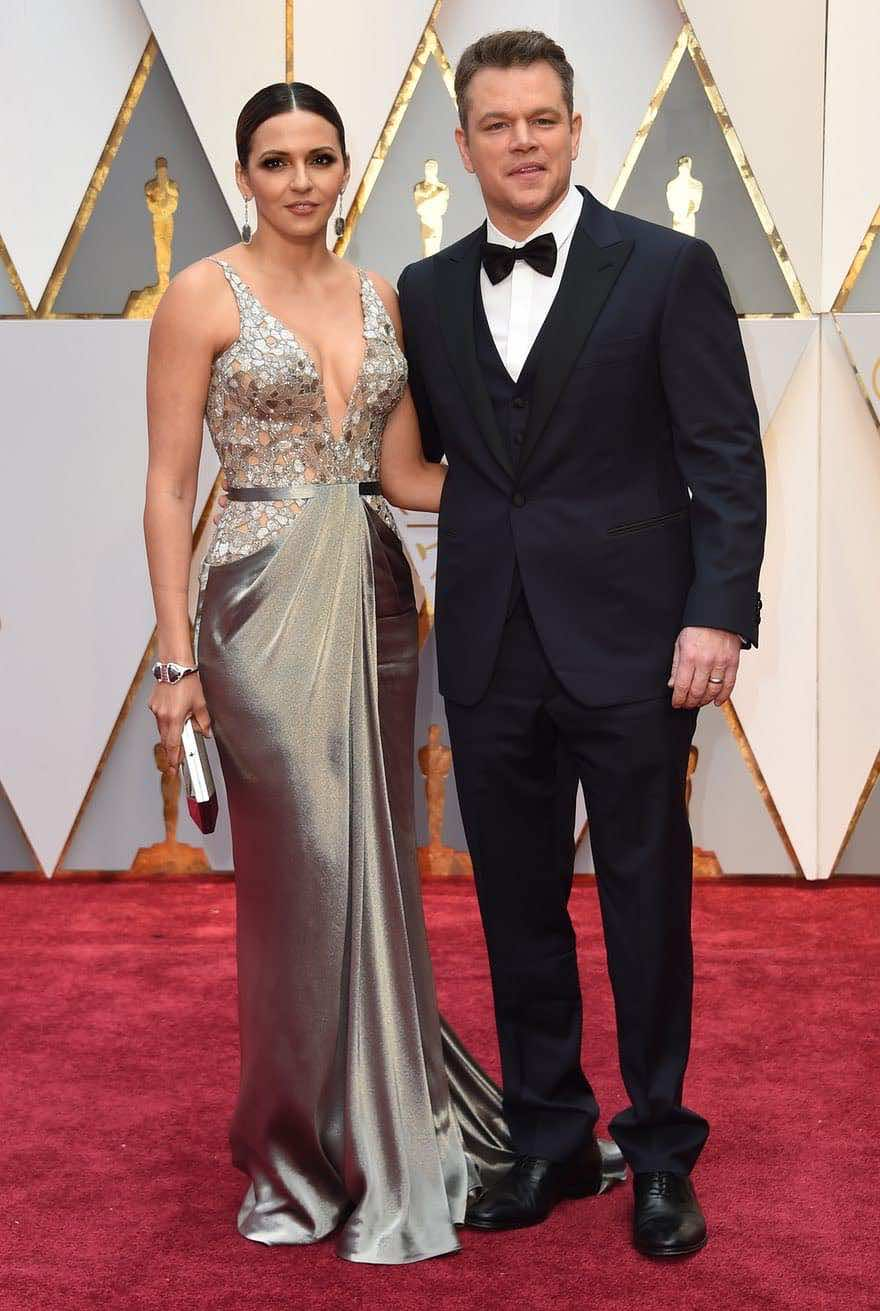 Matt Damon and his wife Luciana Barroso