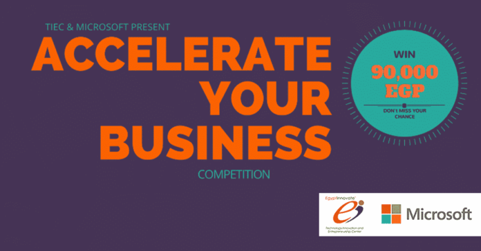 TIEC, MicrosoftPresent'Accelerate Your Business'Competition