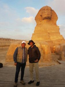 Will Smith taking photos with Egyptians in the Pyramids area