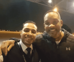 Will Smith in Cairo international airport