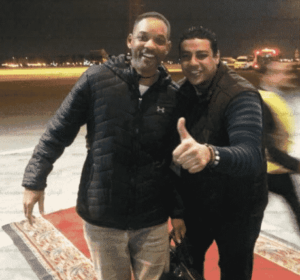 Will Smith photographed in Cairo international airport