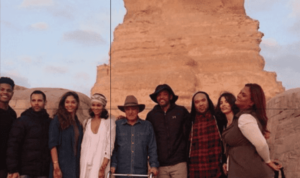 Will Smith and his family's visit to the pyramids of Giza, Egypt