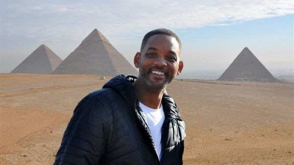 Will Smith's visit to the Pyramids of Giza - Egypt