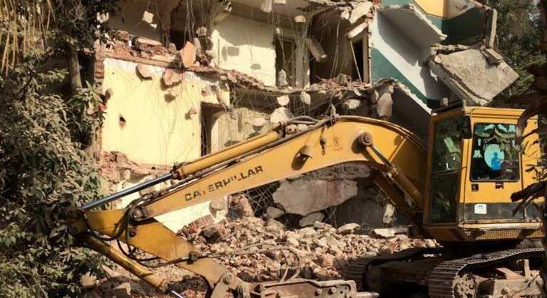 Maadi under destruction