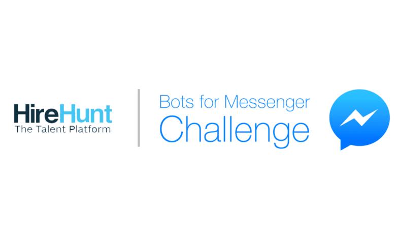 hireHunt bot, chatbot, facebook mena, facebook messenger challenge mena