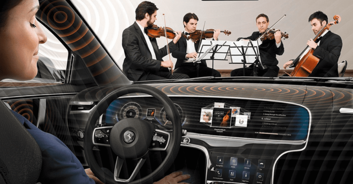 Acts like a violin: Continental presents innovative car audio technology