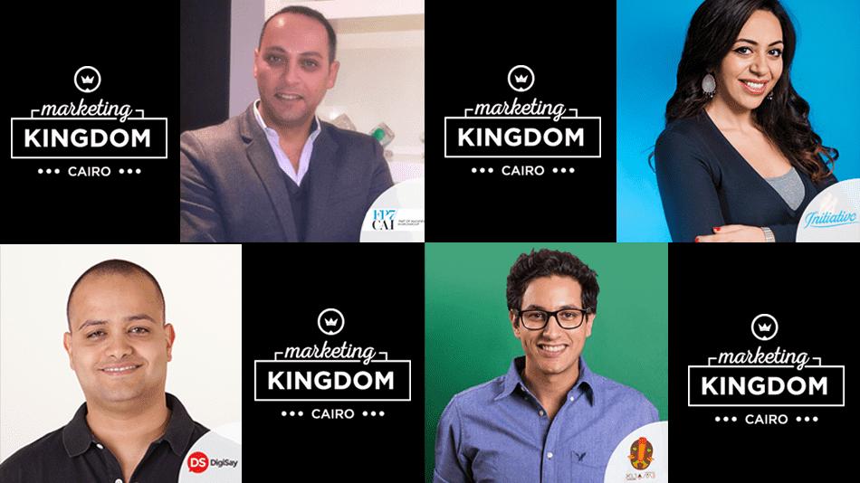 Marketing Kingdom Cairo 3, Bassem ElHady from KIjamii, Amal Homosany from Initiative Media, Ahmed Abbas from DigiSay and Amr El Kalaawy from FP7/CAI