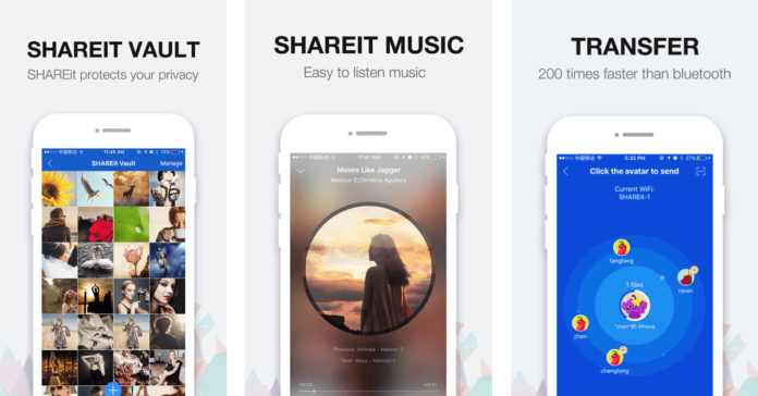 Shareit app for mobile and desktop to transfer files