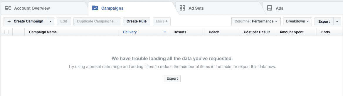 Facebook Down: for advertisers and messenger