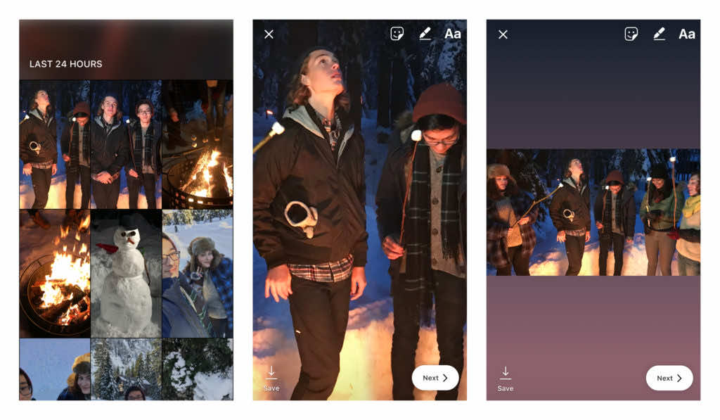 Upload any size photo to Instagram Stories
