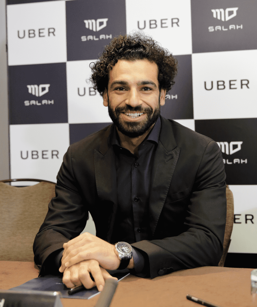 Mohamed Salah at Uber Egypt ceremony