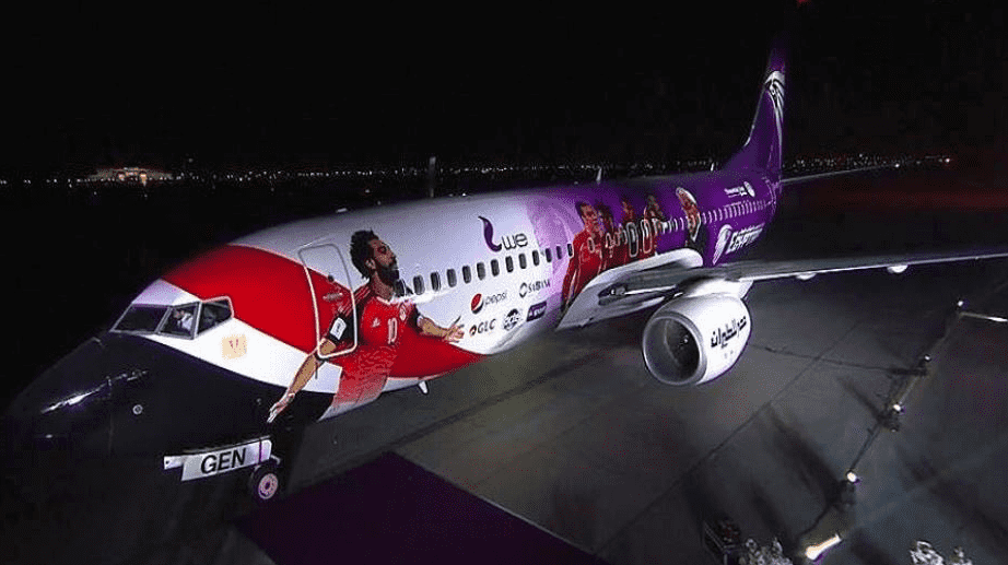 Egypt's national football team airplane branding, Sponsors hijack Egypt's World Cup 2018 airplane branding