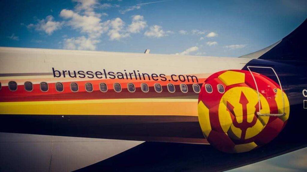 Belgium national football team's airplane branding
