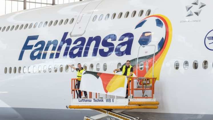 Germany national football team's airplane branding