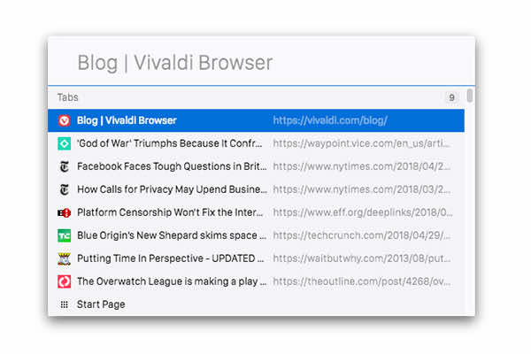 Vivaldi browser releases version 2.1 with improved Quick Commands